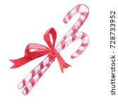 christmas candy | Shutterstock . vector #728733952