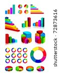 set of shiny graphics and... | Shutterstock .eps vector #72873616
