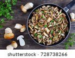 delicious side dish   funghi... | Shutterstock . vector #728738266