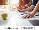 start up teamwork diversity and ... | Shutterstock . vector #728744095