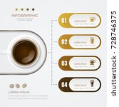 infographics coffee design... | Shutterstock .eps vector #728746375