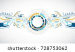 vector illustration  hi tech... | Shutterstock .eps vector #728753062