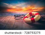 Life Saver On A Dock At The...