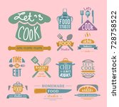 cooking badge motivation text... | Shutterstock .eps vector #728758522