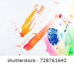 abstract brush strokes on white ... | Shutterstock . vector #728761642