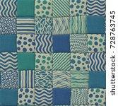 patchwork quilt seamless... | Shutterstock . vector #728763745