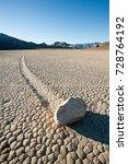rock on the racetrack in death... | Shutterstock . vector #728764192