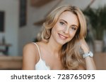 portrait of beautiful happy... | Shutterstock . vector #728765095