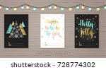 merry christmas and happy new... | Shutterstock .eps vector #728774302
