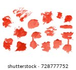 red watercolour set  hand drawn ...   Shutterstock .eps vector #728777752