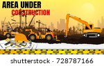 illustration tractor plowing a... | Shutterstock .eps vector #728787166