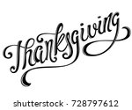 happy thanksgiving day. | Shutterstock . vector #728797612