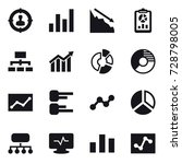 16 vector icon set   target... | Shutterstock .eps vector #728798005