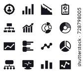 16 vector icon set   target... | Shutterstock .eps vector #728798005