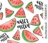 watermelon slice seamless... | Shutterstock .eps vector #728800915