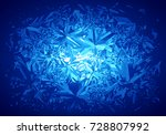 winter blue frost pattern on... | Shutterstock .eps vector #728807992