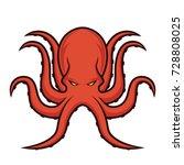 octopus mascot logo | Shutterstock .eps vector #728808025