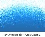 winter blue ice frost... | Shutterstock .eps vector #728808052