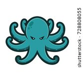 octopus mascot logo | Shutterstock .eps vector #728808055