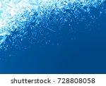 winter blue ice frost... | Shutterstock .eps vector #728808058