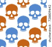 seamless pattern with hand... | Shutterstock .eps vector #728809642