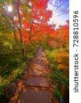 hokyoin houkyouin  temple zen... | Shutterstock . vector #728810596