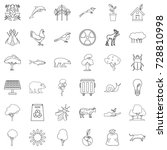 nature icons set. outline style ... | Shutterstock .eps vector #728810998