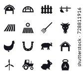 16 vector icon set   barn ... | Shutterstock .eps vector #728811916