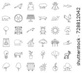 animal icons set. outline style ... | Shutterstock .eps vector #728812042