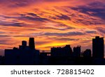 city silhouette against the sky ... | Shutterstock . vector #728815402