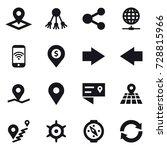 16 vector icon set   pointer ... | Shutterstock .eps vector #728815966