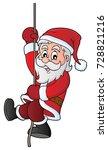 climbing santa claus theme... | Shutterstock .eps vector #728821216