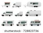 food trucks realistic...   Shutterstock .eps vector #728823736