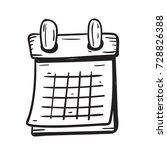 calendar doodle    Shutterstock .eps vector #728826388
