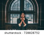 wednesday addams. angry girl... | Shutterstock . vector #728828752