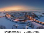 fairytale town   blue winter... | Shutterstock . vector #728838988