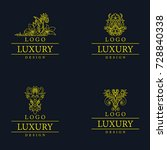 vector amazing luxury logo... | Shutterstock .eps vector #728840338
