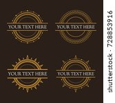 set of decorative frames.... | Shutterstock .eps vector #728853916