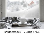 cozy winter still life  cup of... | Shutterstock . vector #728854768