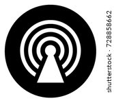 ui glyph circle hotspot | Shutterstock .eps vector #728858662