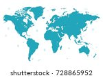blue world map | Shutterstock .eps vector #728865952