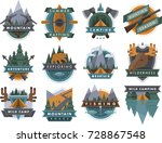 camping outdoor travel tourism...   Shutterstock .eps vector #728867548
