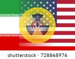 united states and iran flag... | Shutterstock . vector #728868976