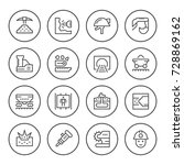 set round line icons of mining | Shutterstock .eps vector #728869162