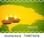 abstract happy diwali artistic... | Shutterstock .eps vector #728873656