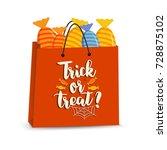 vector halloween bag with... | Shutterstock .eps vector #728875102