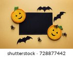 black blank paper card with... | Shutterstock . vector #728877442