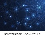 internet connection  abstract... | Shutterstock .eps vector #728879116