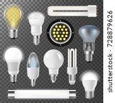incandescent lamps light bulbs... | Shutterstock .eps vector #728879626