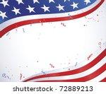 American Flag Border Design...